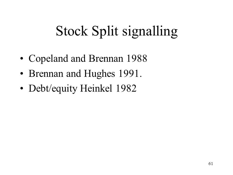 Stock Split signalling