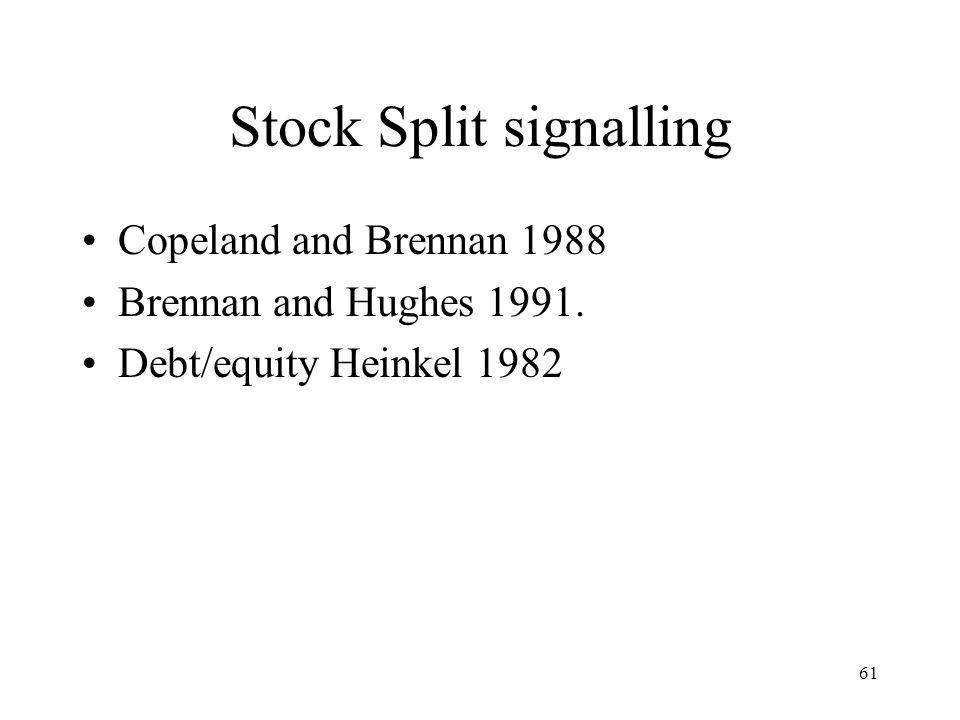 Stock Split signalling
