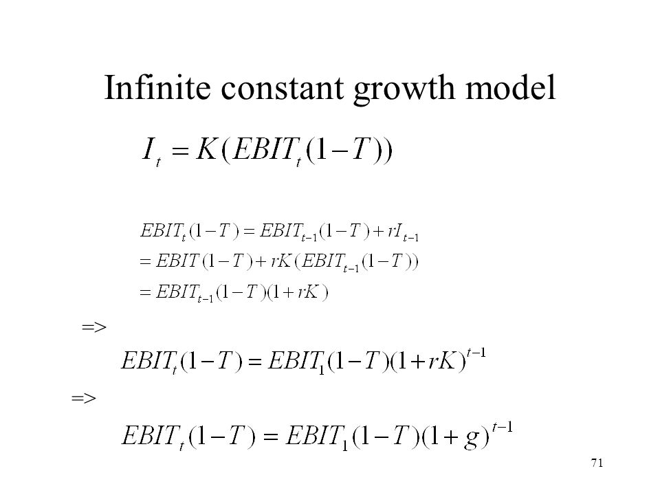 Infinite constant growth model
