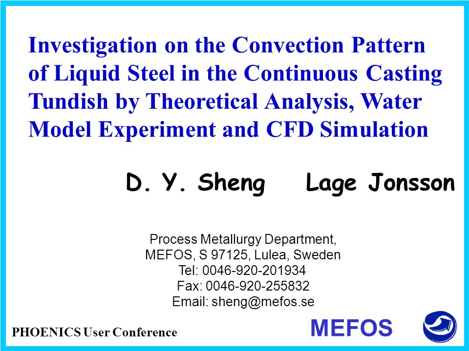 Investigation on the Convection Pattern