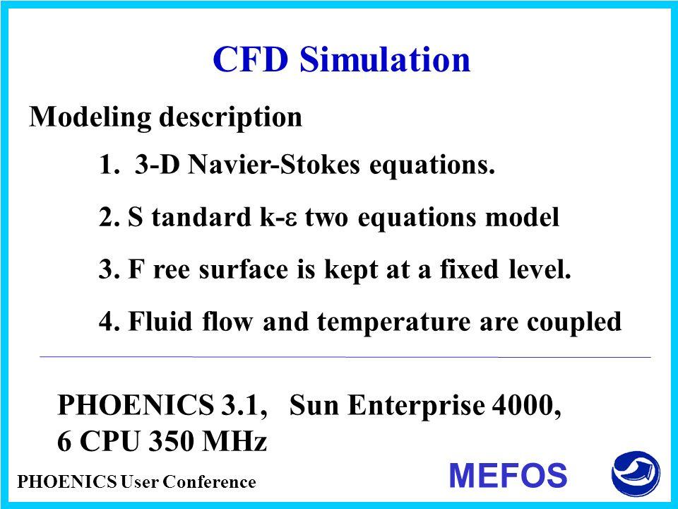 CFD Simulation MEFOS Modeling description