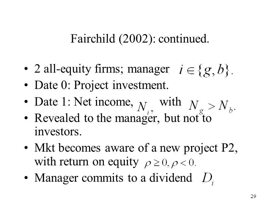 Fairchild (2002): continued.
