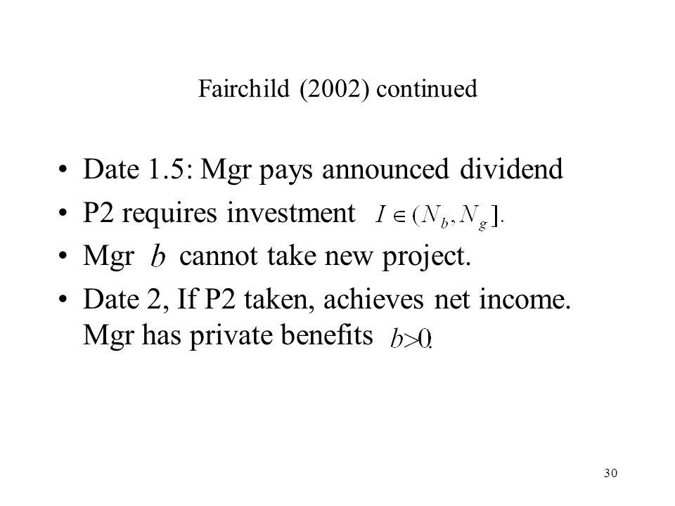 Fairchild (2002) continued