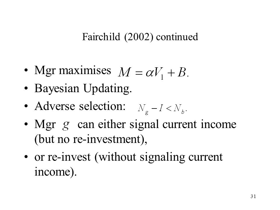 Fairchild (2002) continued