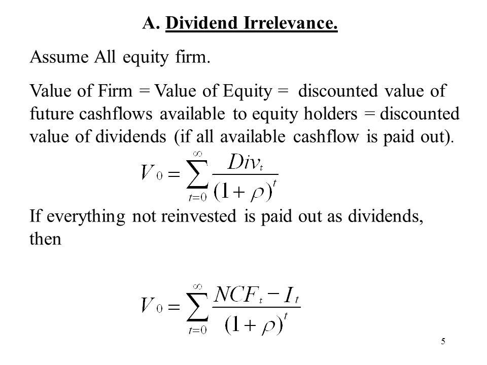 A. Dividend Irrelevance.