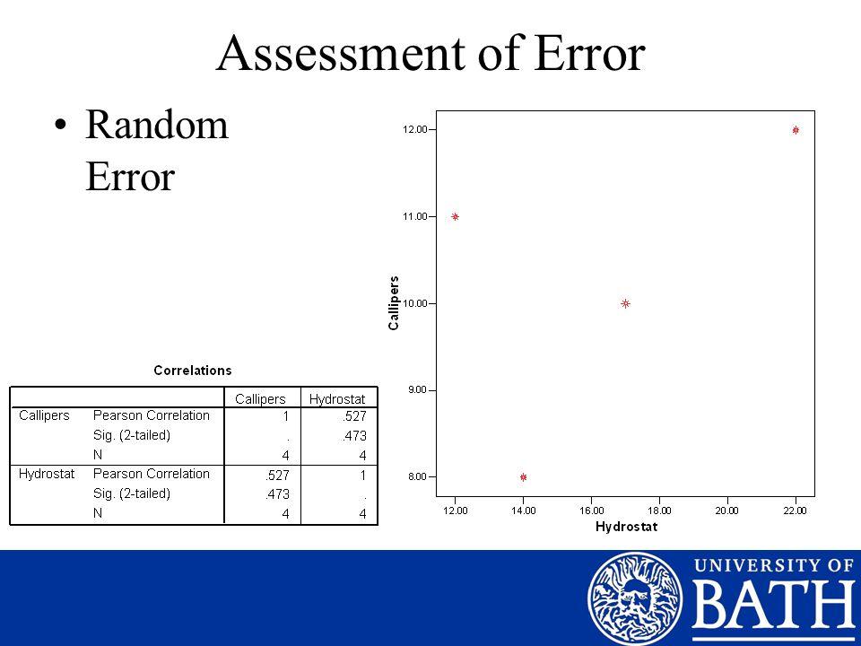Assessment of Error Random Error