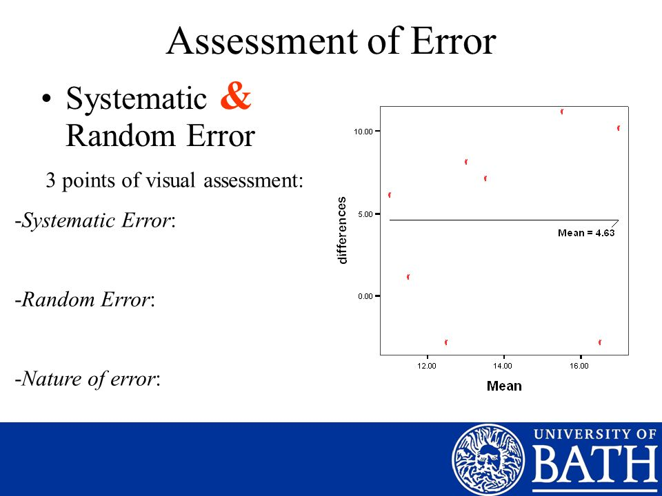 3 points of visual assessment: