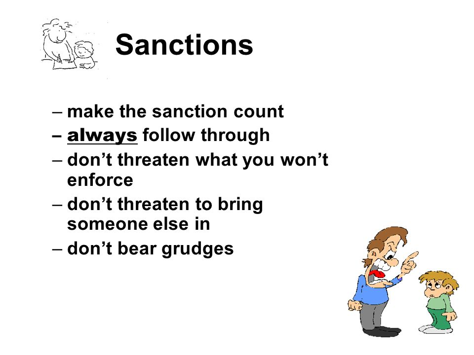 Sanctions make the sanction count always follow through