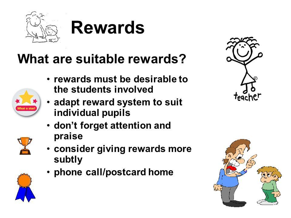 Rewards What are suitable rewards