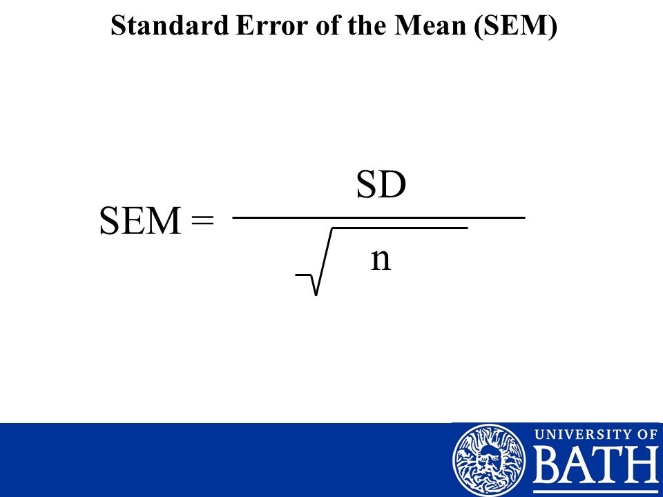Standard Error of the Mean (SEM)