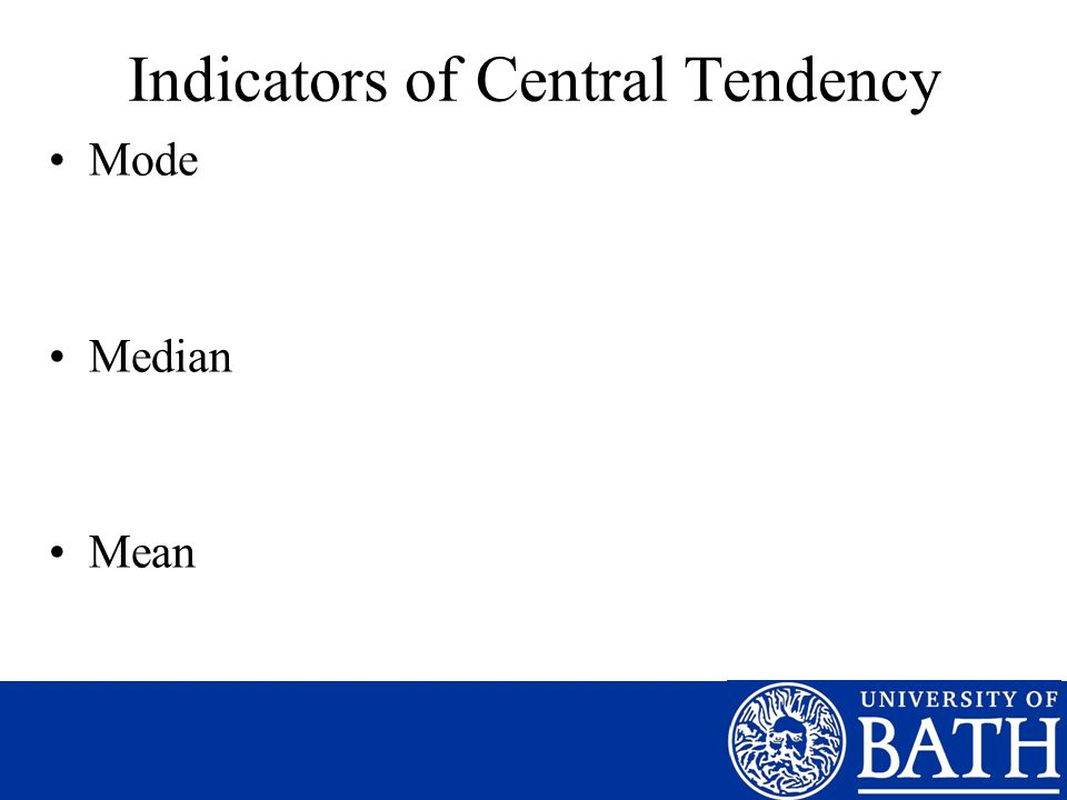 Indicators of Central Tendency