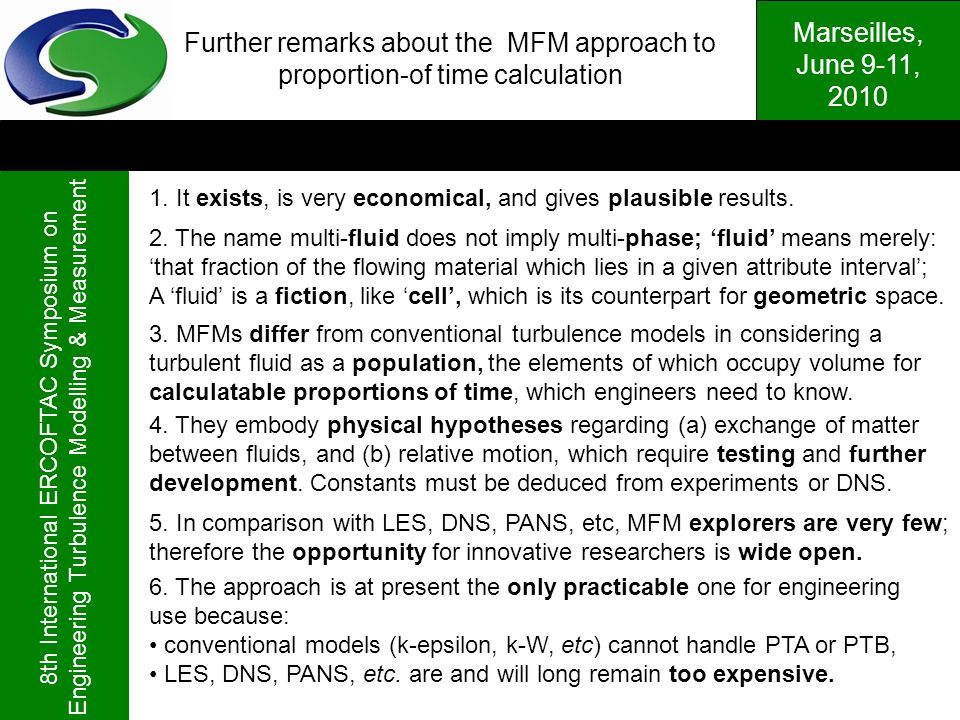Further remarks about the MFM approach to