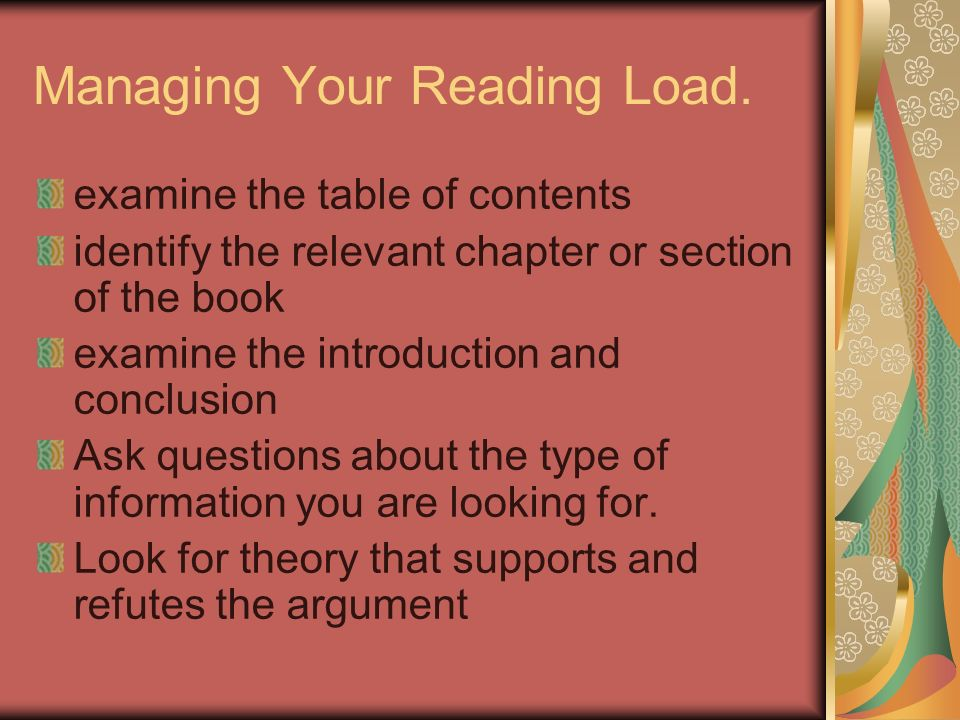 Managing Your Reading Load.