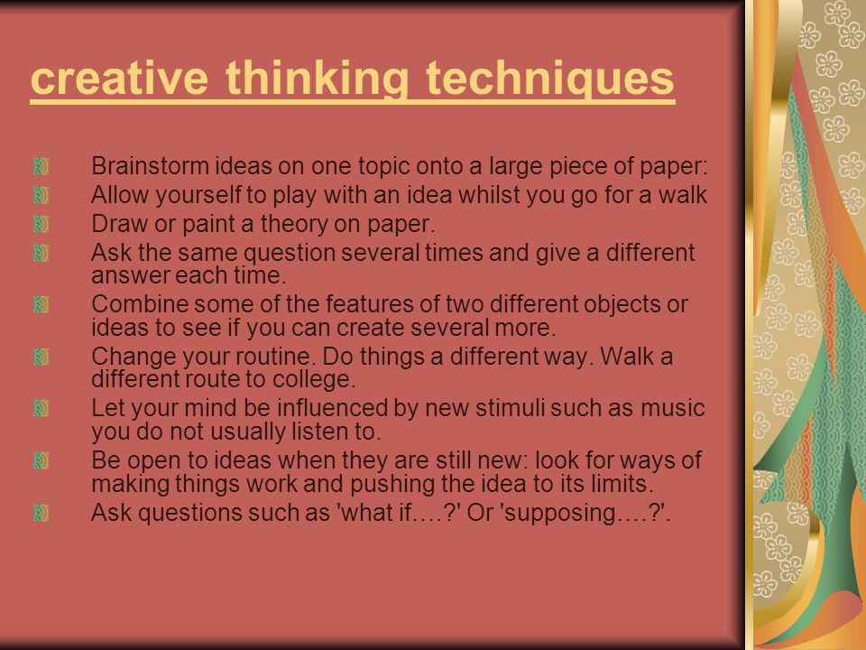 creative thinking techniques