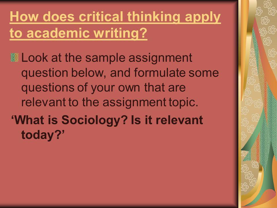 essay sociology writing
