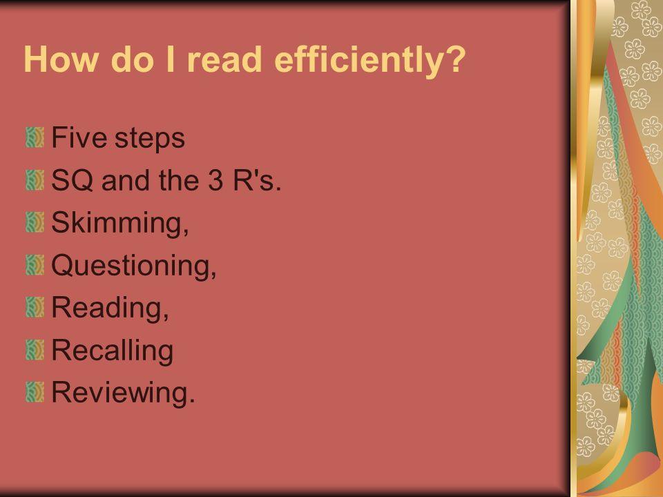 How do I read efficiently