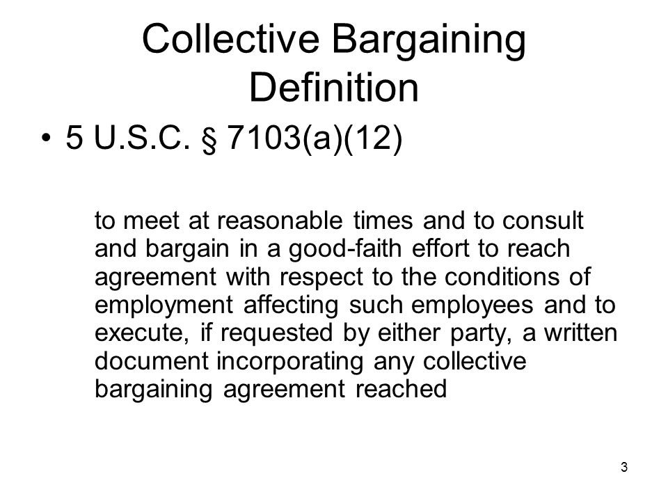 COLLECTIVE BARGAINING Defined for English Language Learners