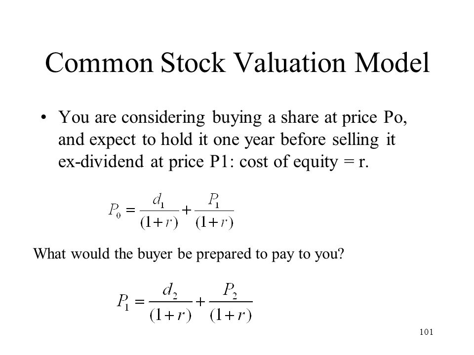 Common Stock Valuation Model