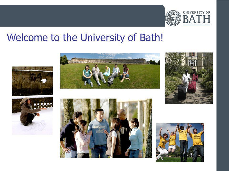 Welcome to the University of Bath!