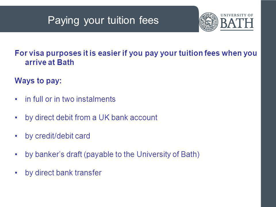 Paying your tuition fees