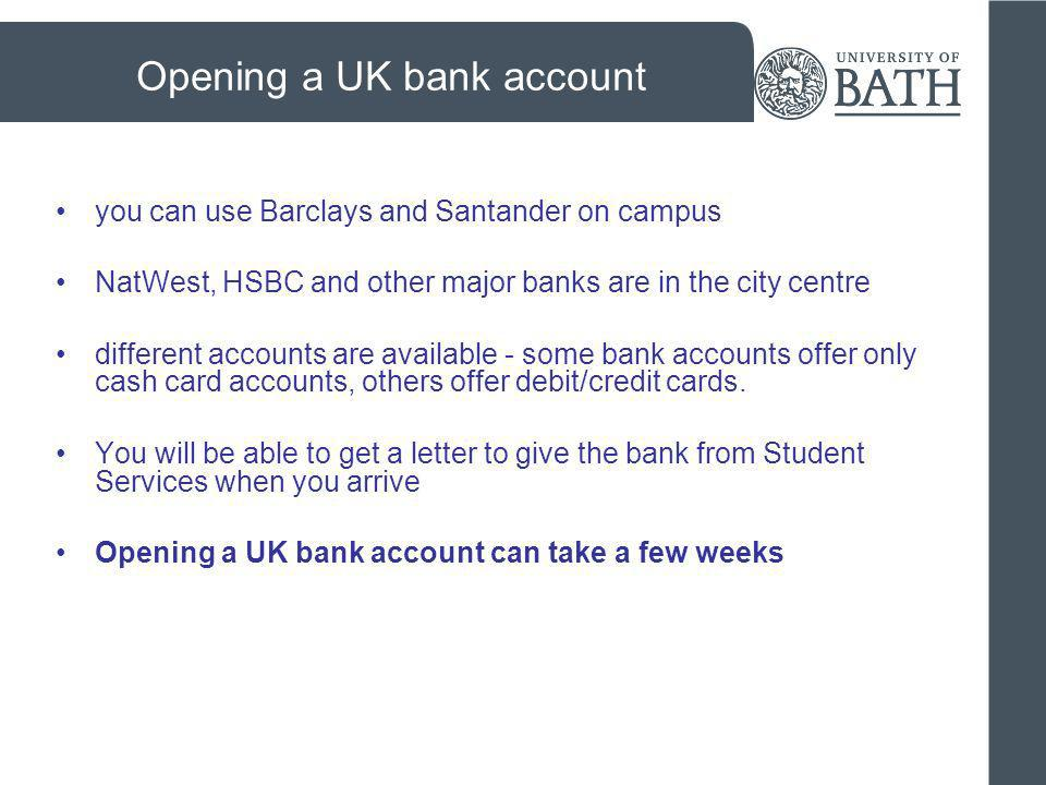 Opening a UK bank account