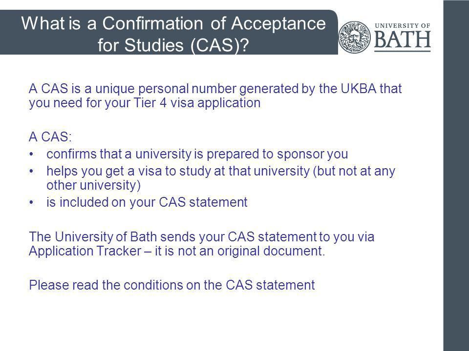 What is a Confirmation of Acceptance for Studies (CAS)