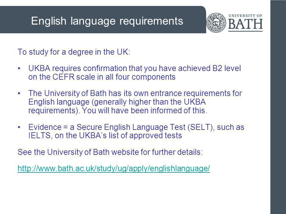 English language requirements