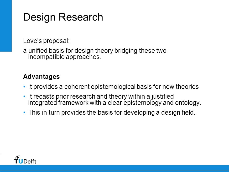 Design Research Love's proposal: