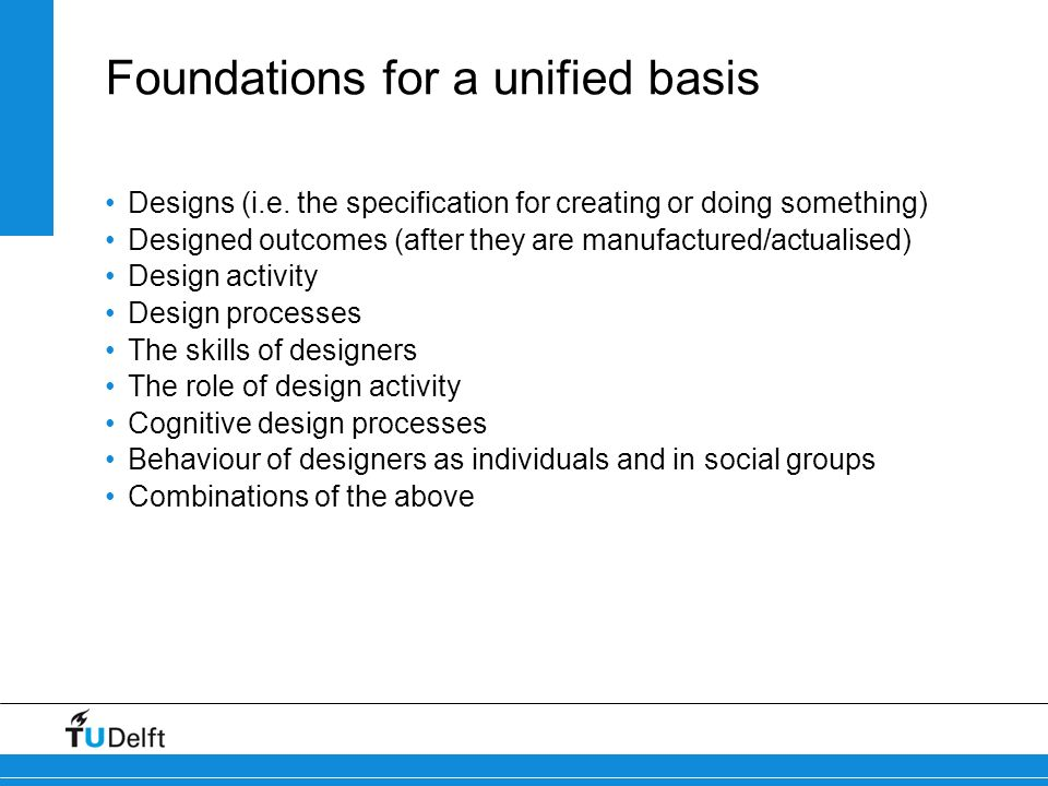 Foundations for a unified basis
