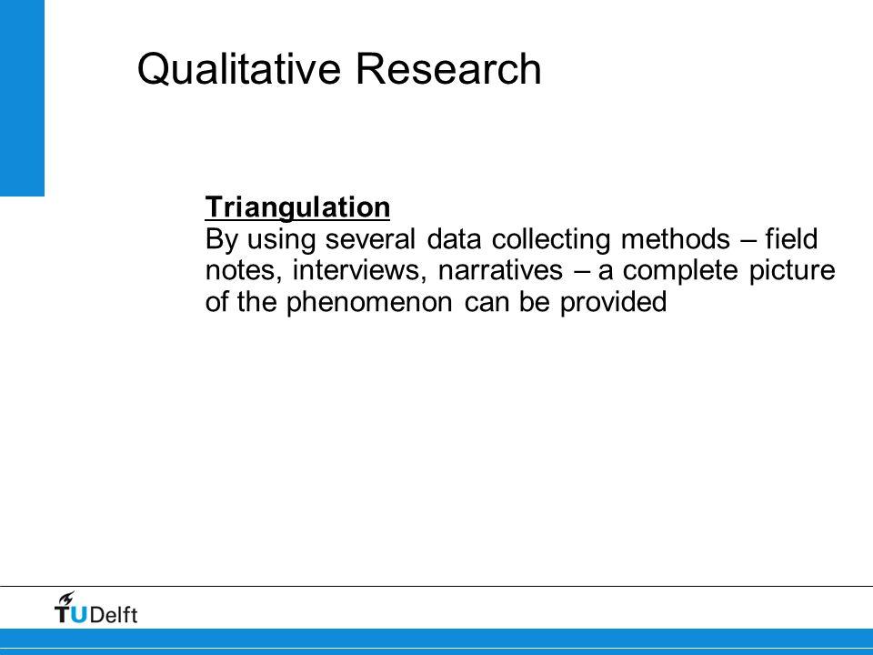 Qualitative Research Triangulation