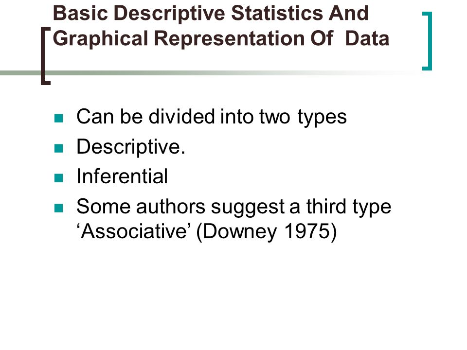 Basic Descriptive Statistics And Graphical Representation Of Data