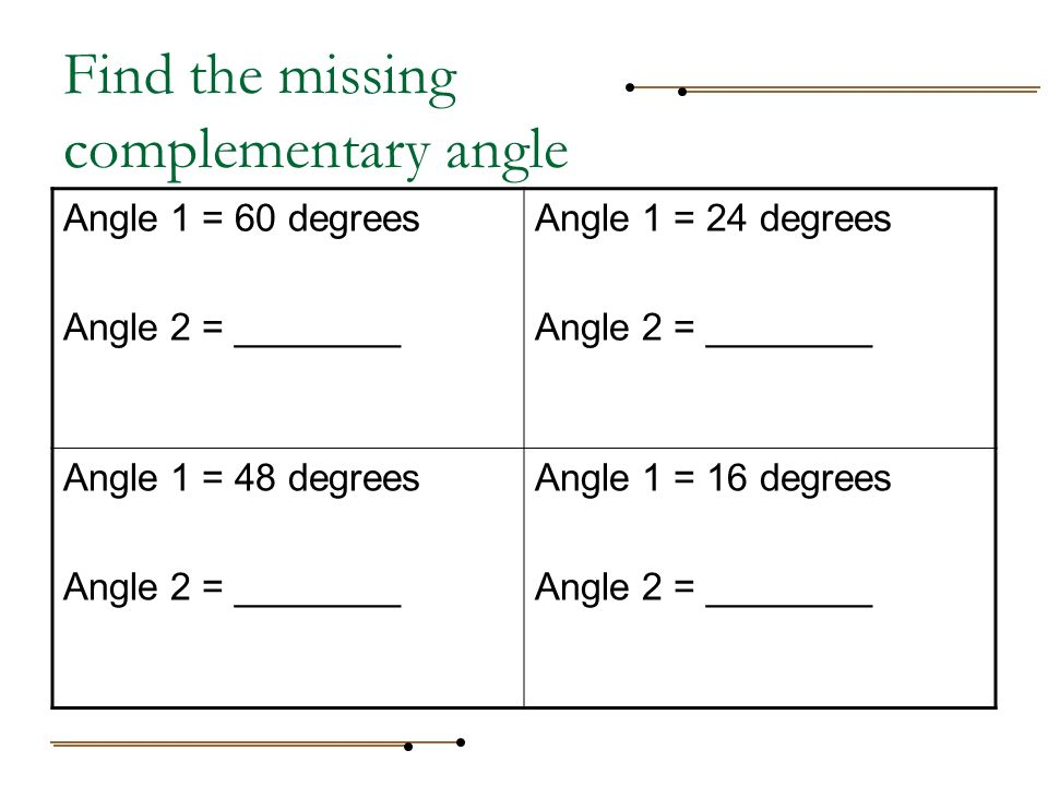 how to find out the missing angle