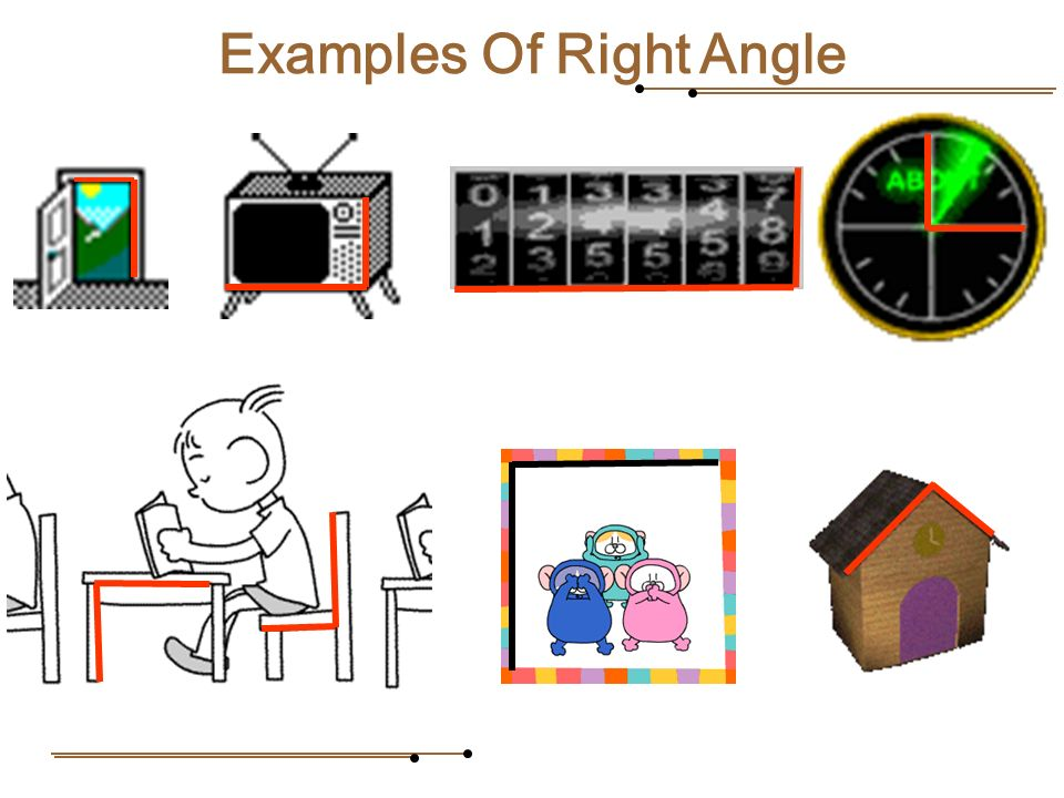 Real Life Example Right Angle : Contents recap the terms test yourself angles in daily