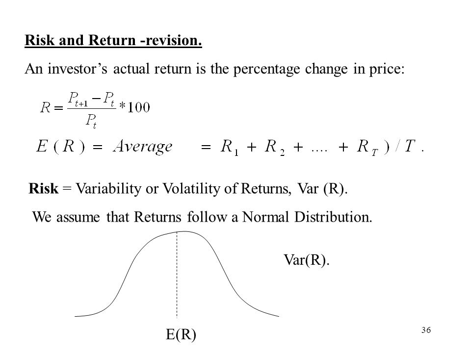 Risk and Return -revision.