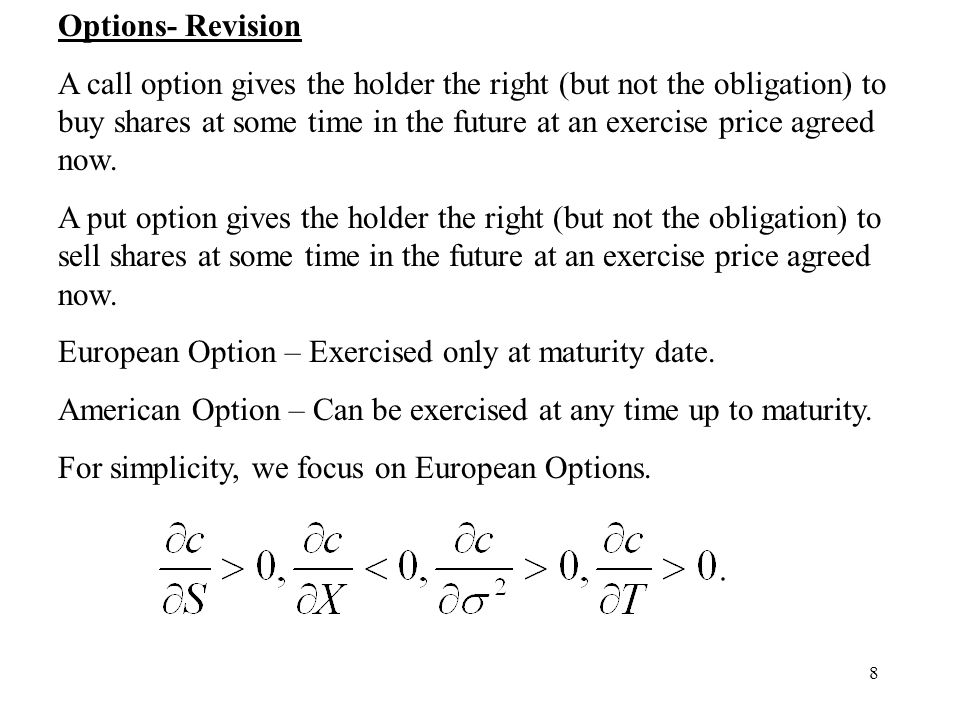 Options- Revision