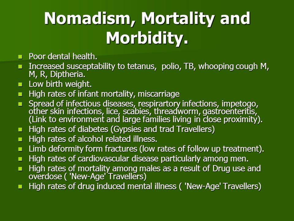 Nomadism, Mortality and Morbidity.