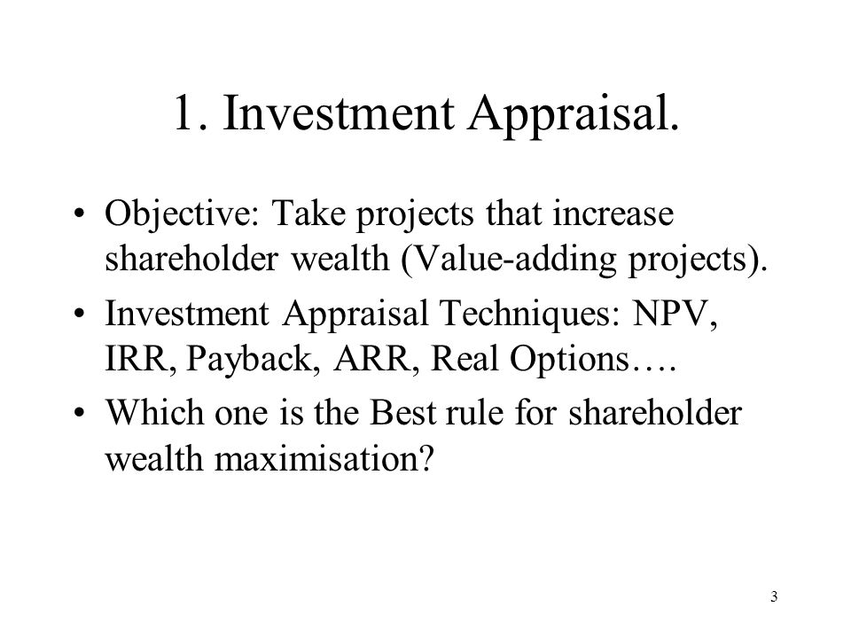 What Are the Types of Project Appraisal Methodologies?