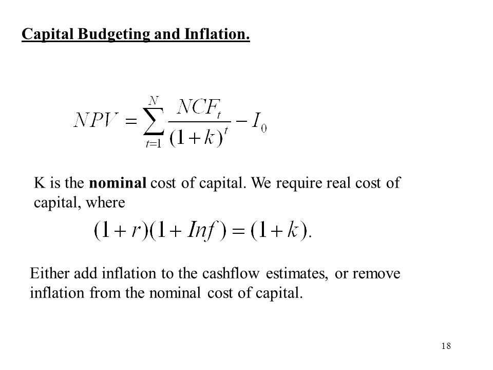Capital Budgeting and Inflation.