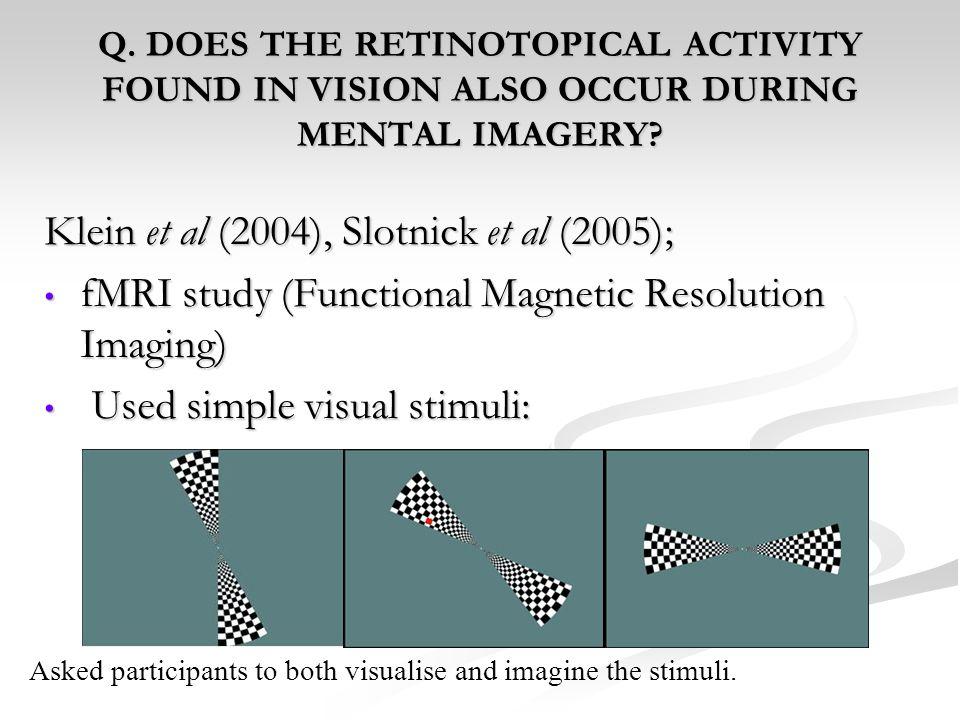 Klein et al (2004), Slotnick et al (2005);