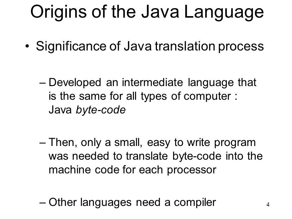 Origins of the Java Language
