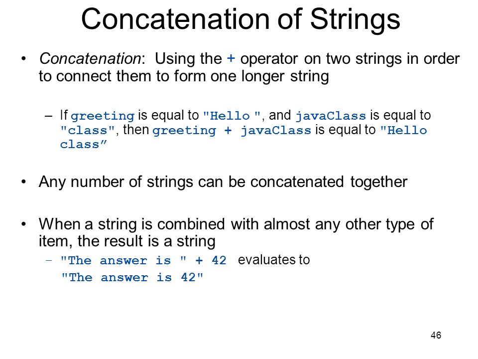 Concatenation of Strings