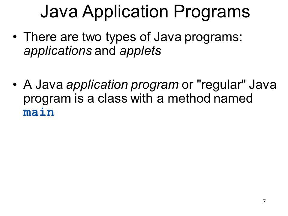 Java Application Programs