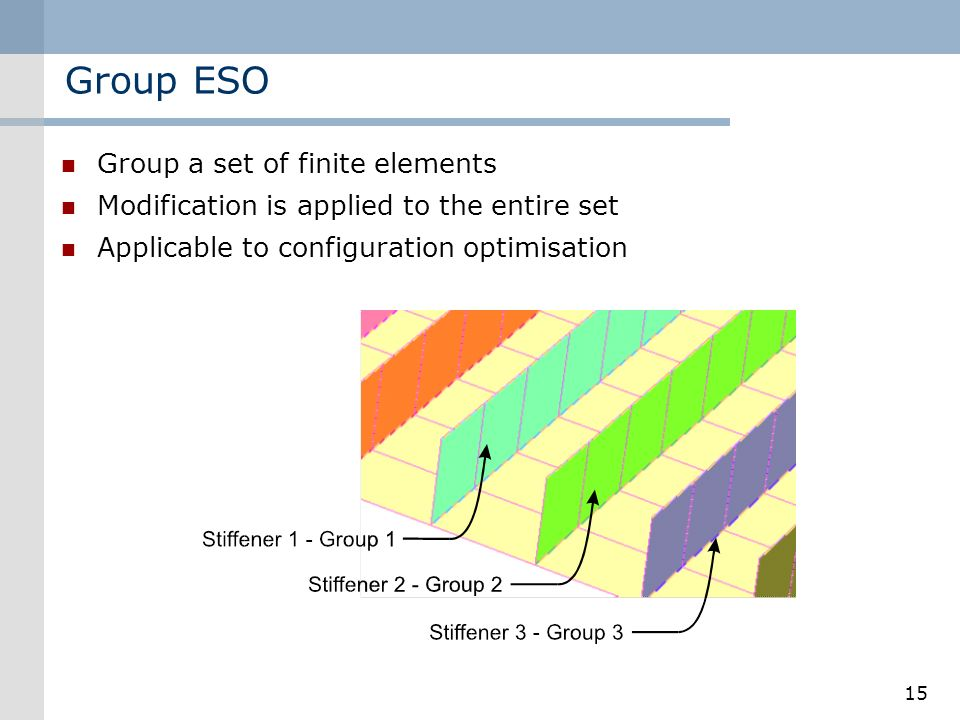 Group ESO Group a set of finite elements