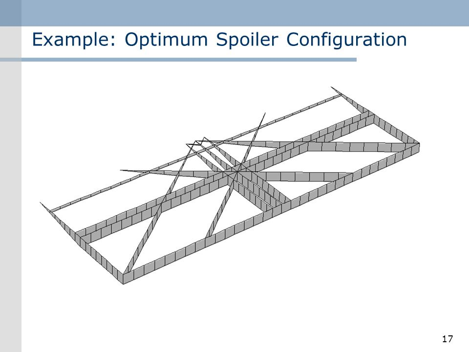 Example: Optimum Spoiler Configuration