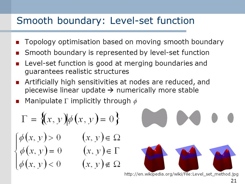 Smooth boundary: Level-set function
