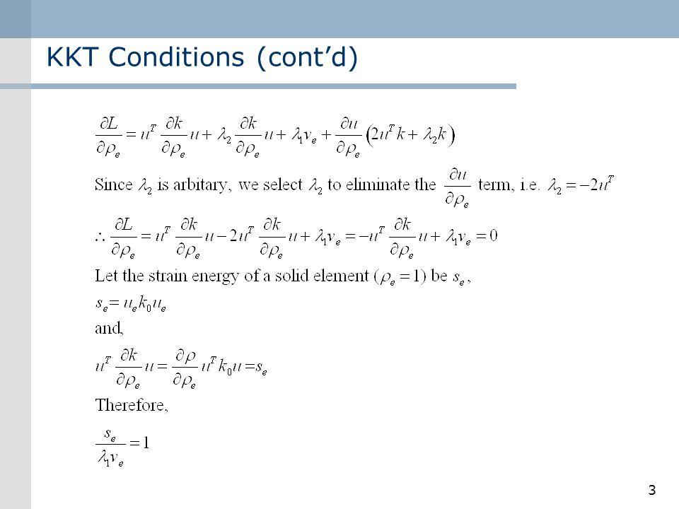 KKT Conditions (cont'd)