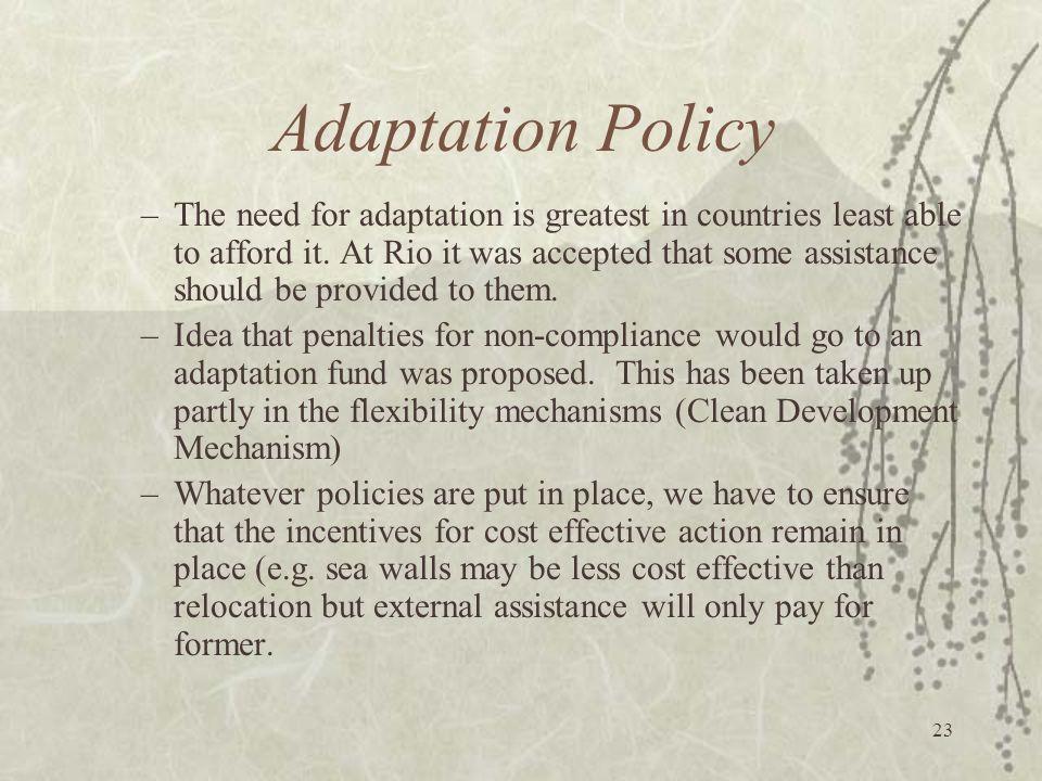 Adaptation Policy