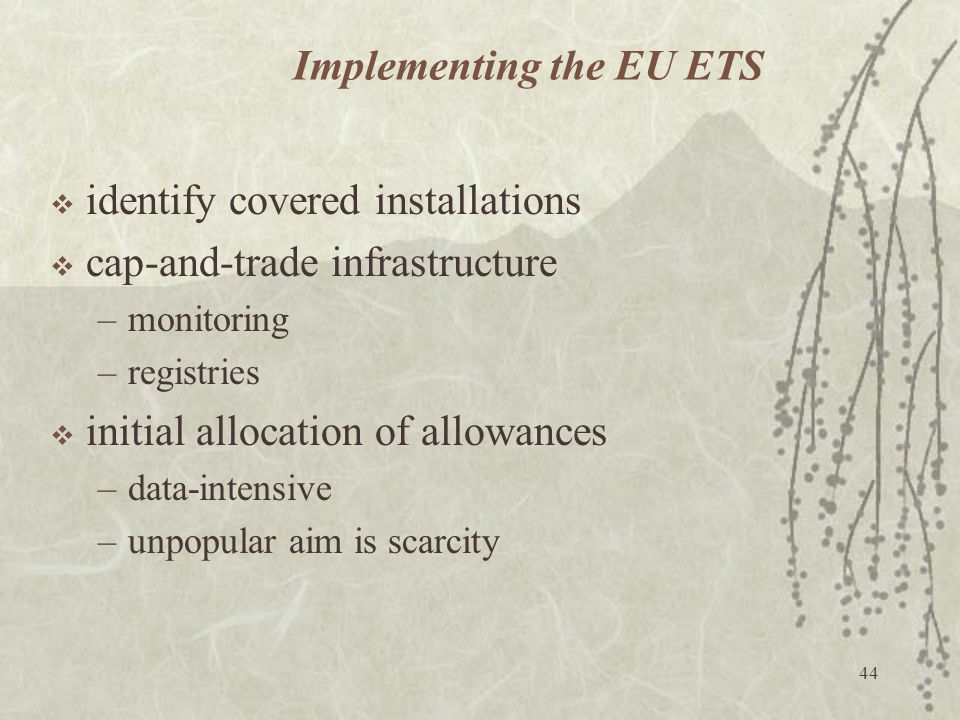 Implementing the EU ETS