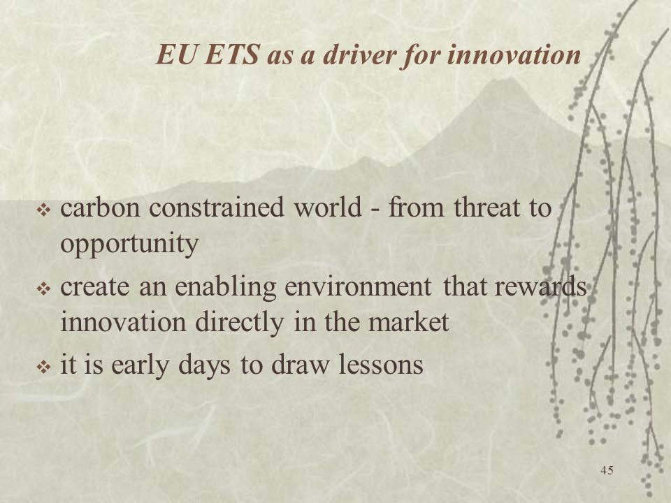 EU ETS as a driver for innovation