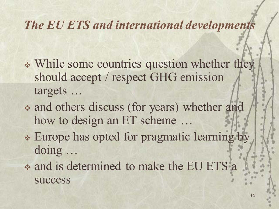 The EU ETS and international developments